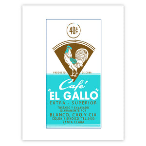 Cafe El Gallo (Teal-Brown)