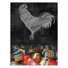 Wire Rooster and Cuban Cigar Bands
