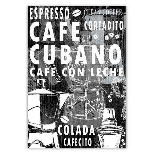 Cuban Coffee Menu Black