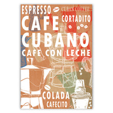 Cuban Coffee Menu Multi