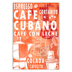 Cuban Coffee Menu Orange