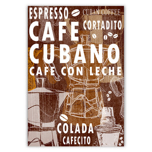 Cuban Coffee Menu Tobacco Brown
