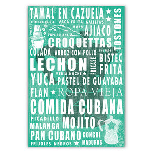 Cuban Coffee Menu Sea Weed