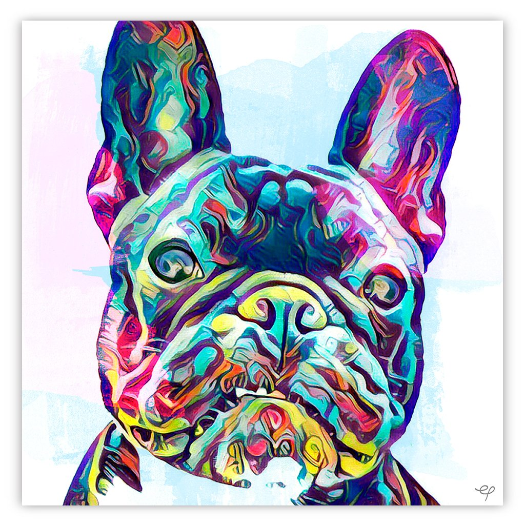 Black And Blue Painted Frenchie