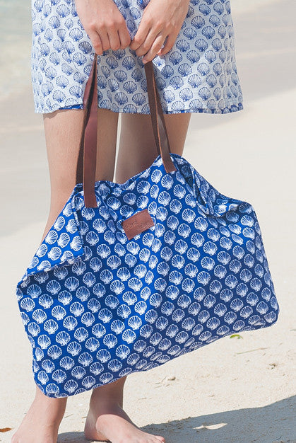 Shell Cotton Beach Bag