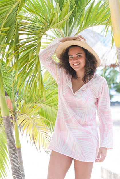 Island View Cotton Tunic Beach Coverup