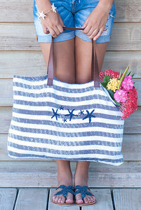 Starfish Cotton Beach Bag