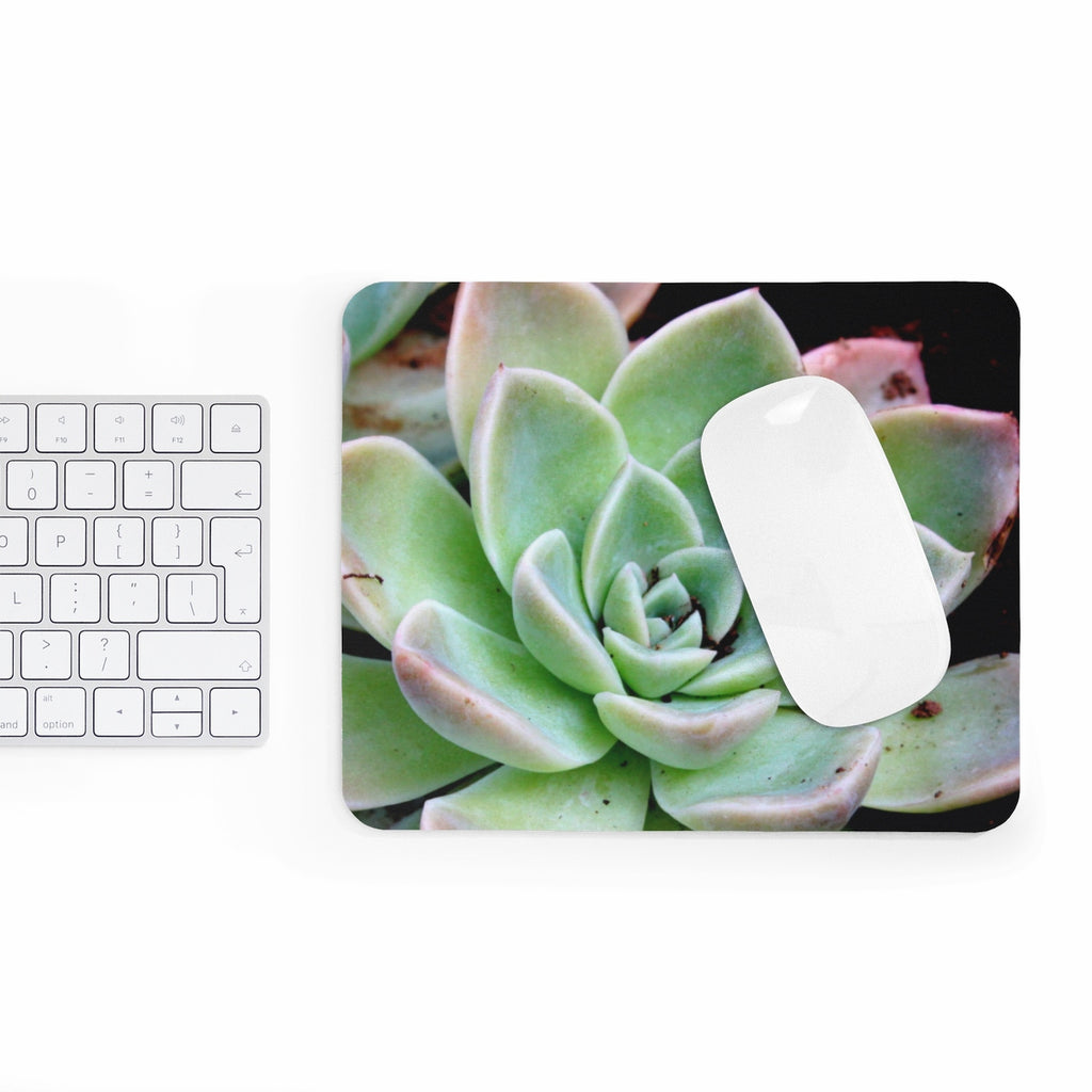 Green Succulent Mousepad
