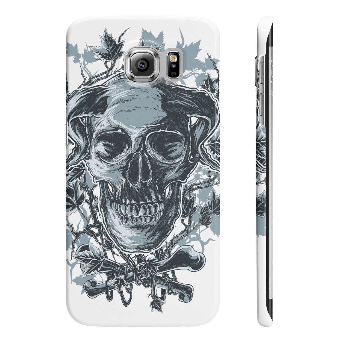 Horned Skull Slim Phone Cases