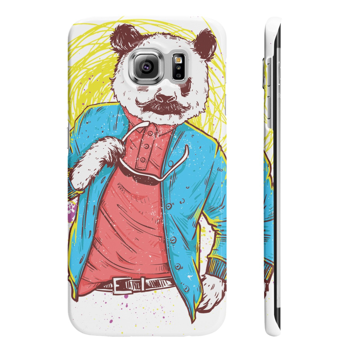 Panda Bear Slim Phone Cases