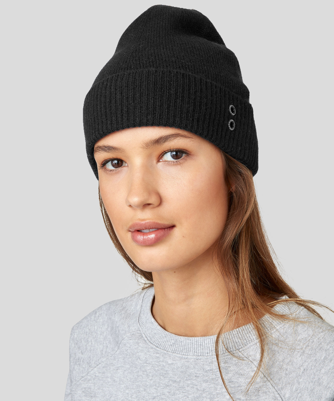Cashmere Beanie His For Her - black