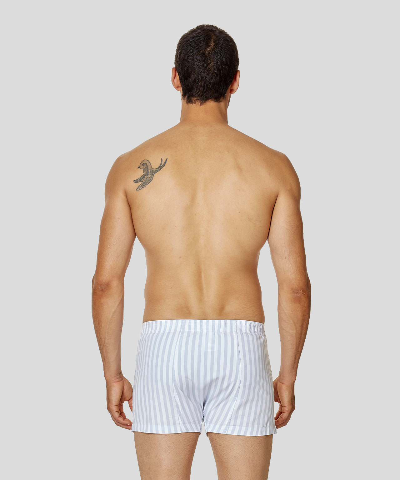 Boxer Shorts Vertical Stripes - arctic blue/white