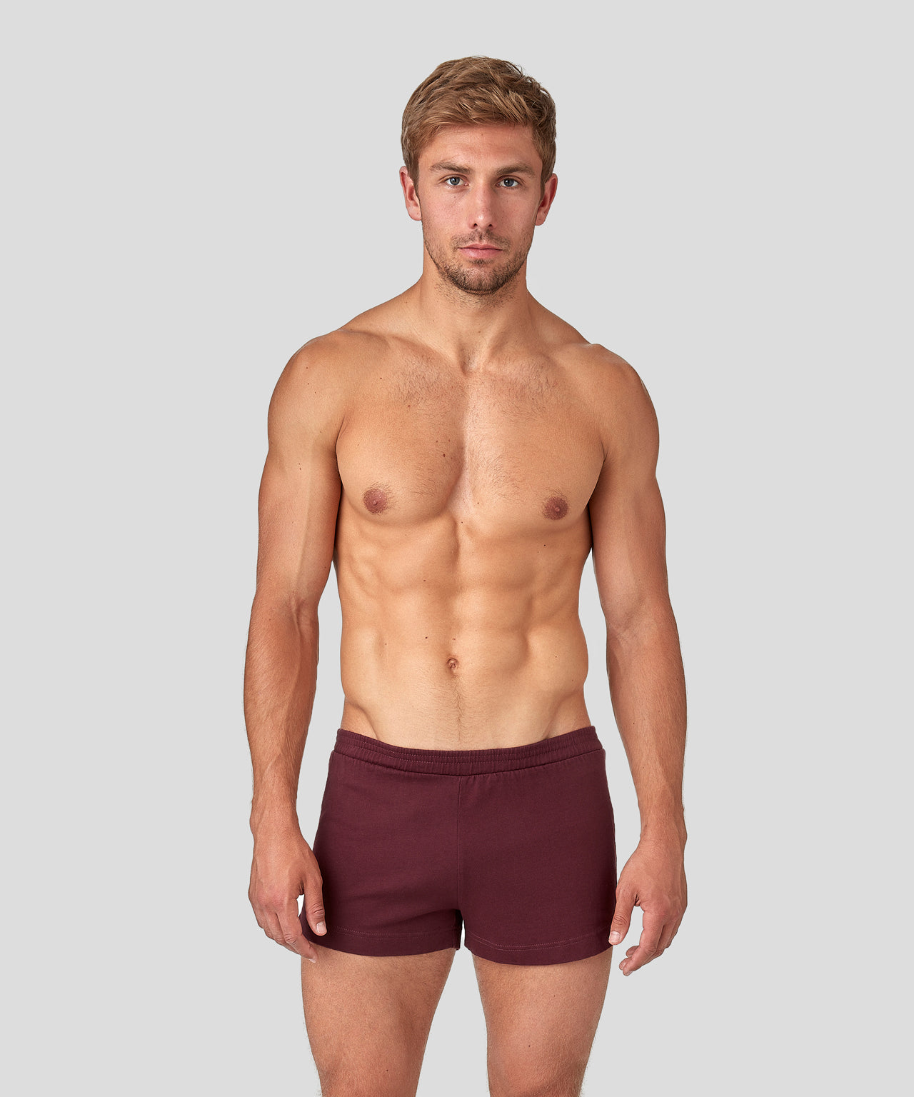 Home Shorts - burgundy red