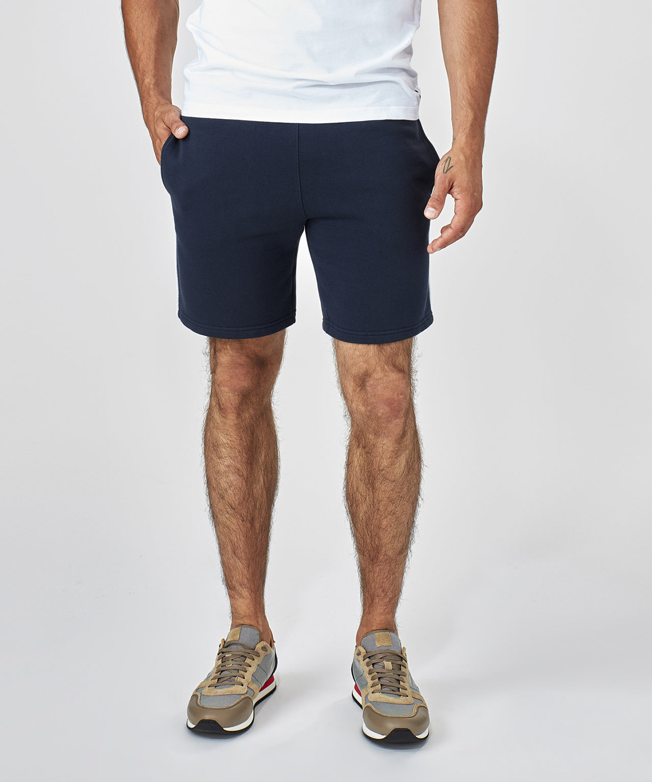 Jogging Shorts Piping - navy