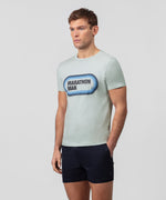 T-Shirt MARATHON MAN - sky grey
