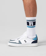 Sports Socks RD Stripes - white/sky blue