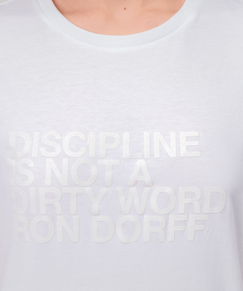 T-Shirt DISCIPLINE His For Her - white