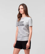 T-Shirt DISCIPLINE Japanese His For Her - grey melange
