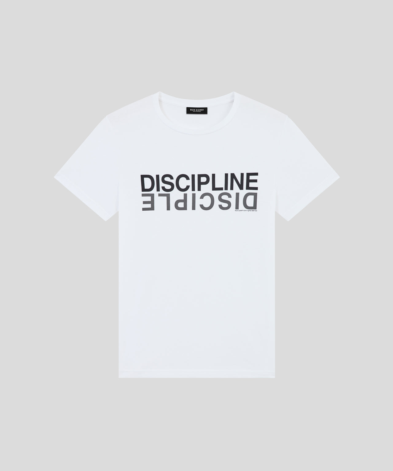 T-Shirt DISCIPLINE DISCIPLE - white