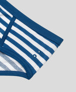 Y-Front Briefs Stripes - california blue/white