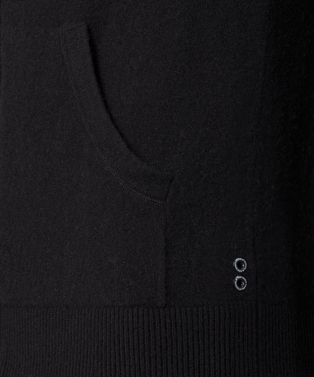Cashmere Zipped Hoodie - black