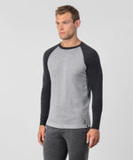 Cotton Cashmere Baseball Sweater - grey melange