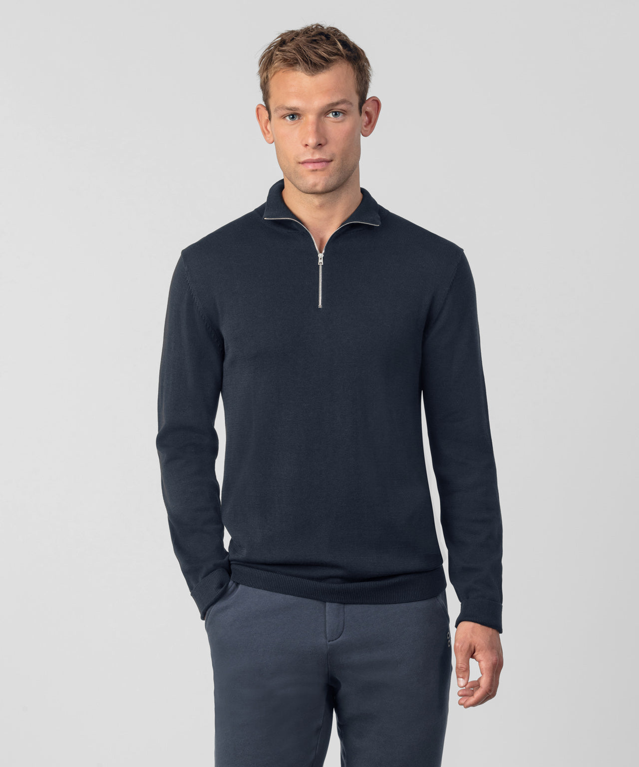 RD Polo Long Sleeved - navy