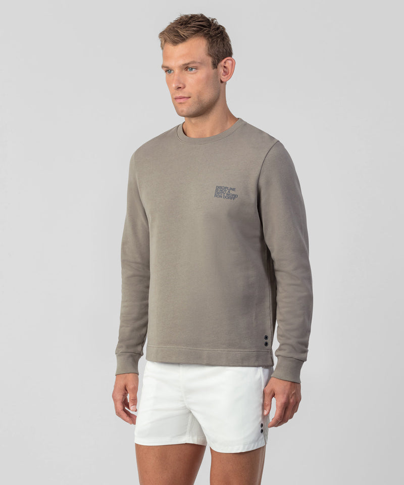 Light Sweatshirt DISCIPLINE Small Print - frozen khaki