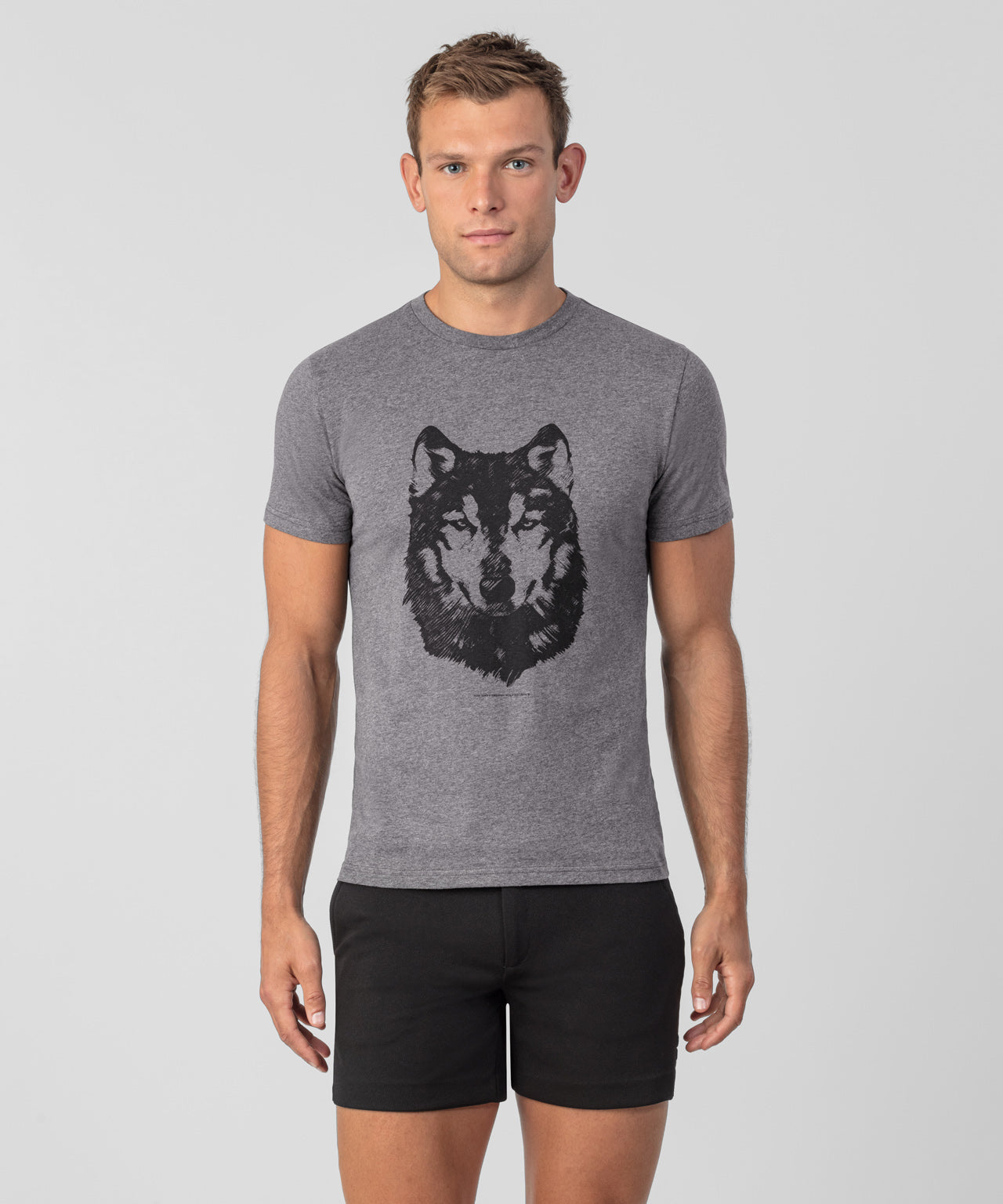 T-Shirt Wolf - medium grey