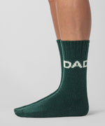 Wool Socks DAD - green night
