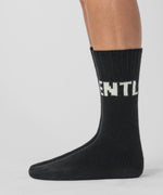 Wool Socks GENTLE MAN - black