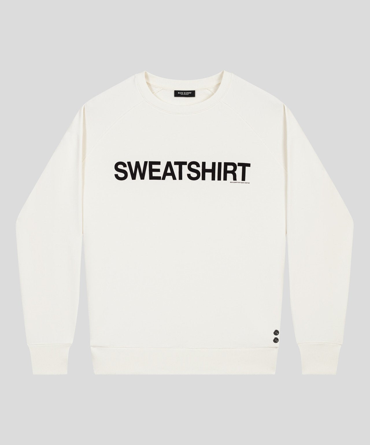 Organic Cotton Sweatshirt - off white