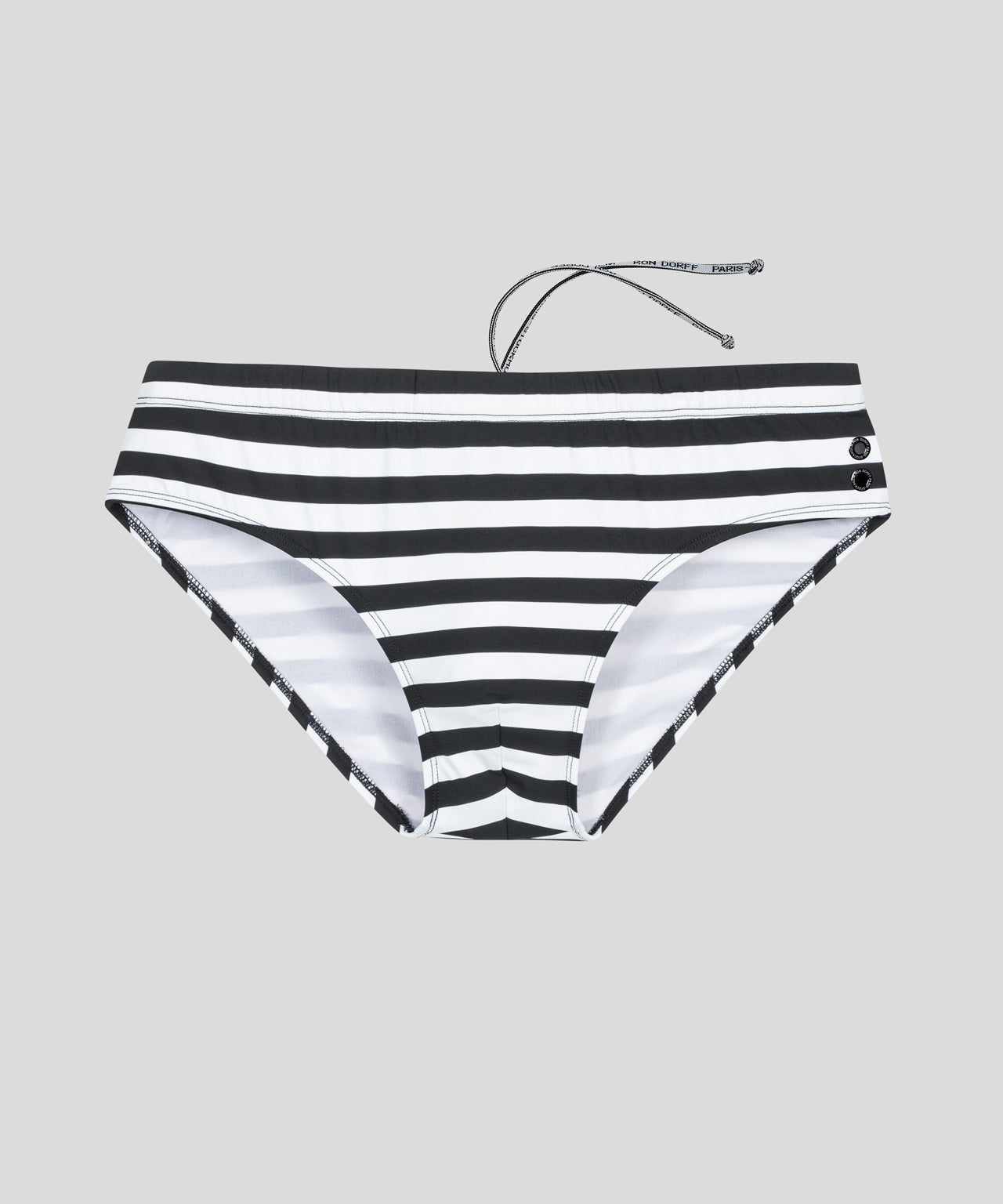 Swim Briefs Horizontal Stripes - black/white