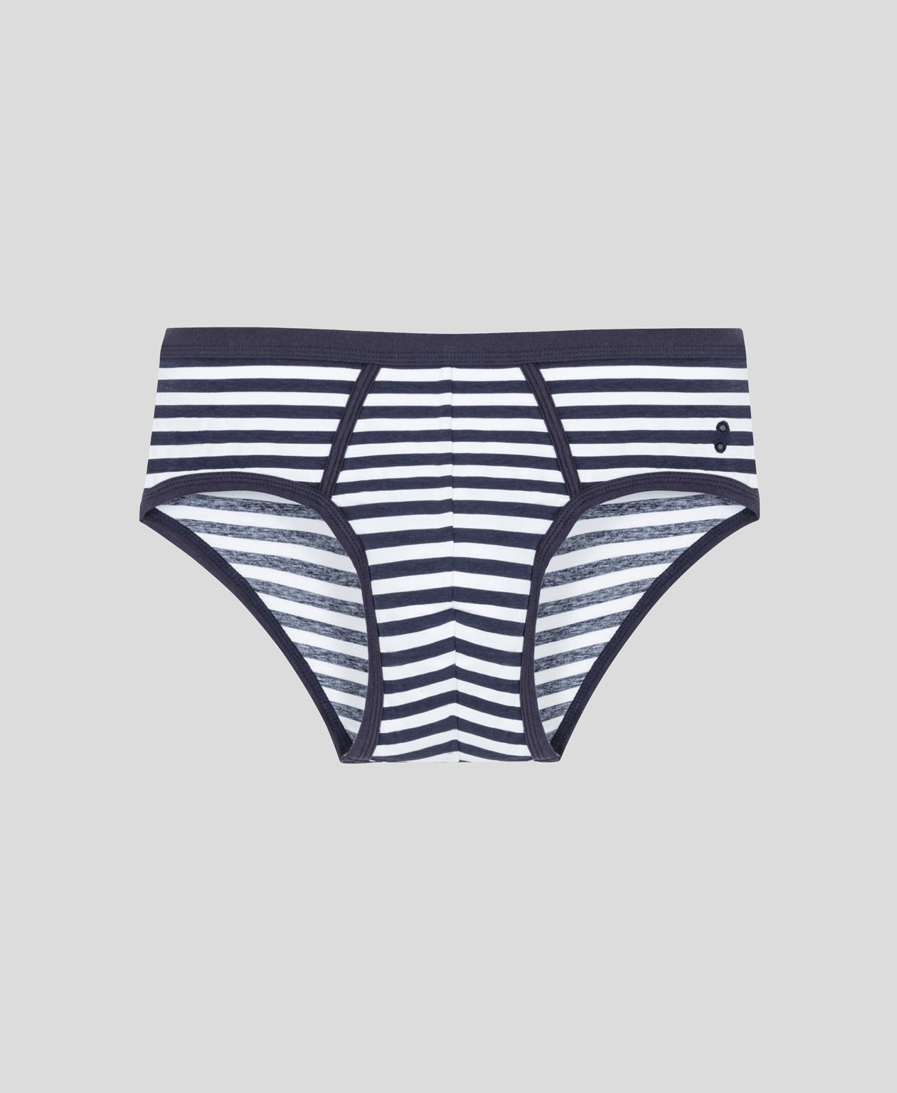 Striped Y-Front Briefs - navy / white