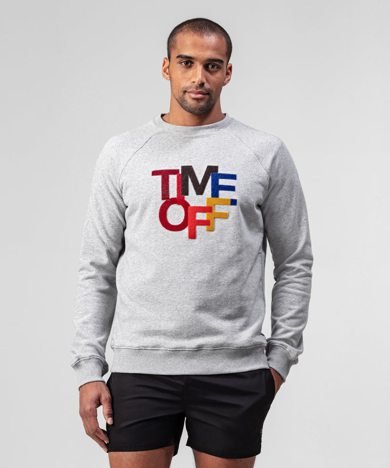 Sweatshirt TIME OFF - grey melange