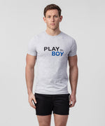 T-Shirt PLAY BOY - grey melange