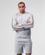 Sweatshirt w Side Stripes - grey melange
