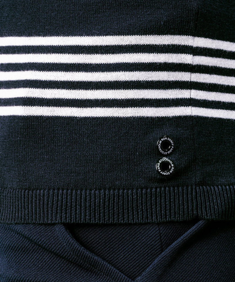 Knitted T-Shirt - navy