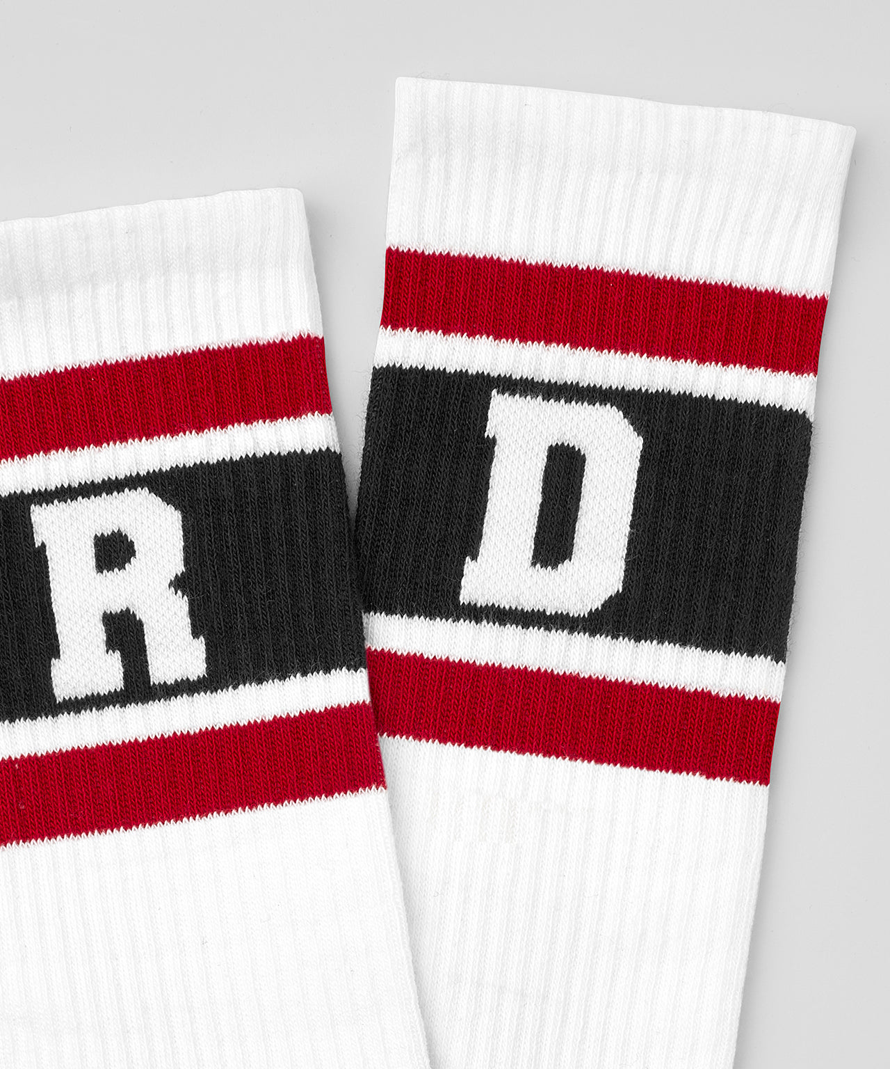 Socks RD Stripes - traffic red