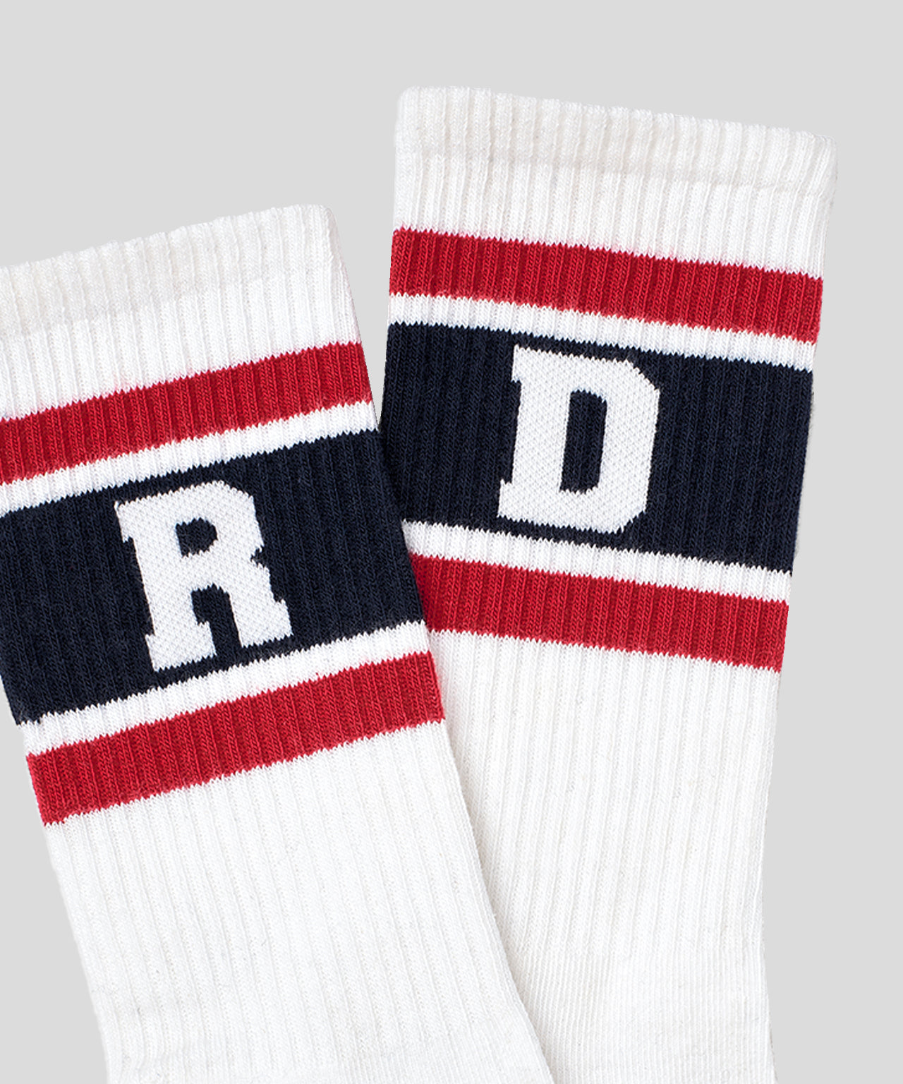 Socks RD Stripes - falun red