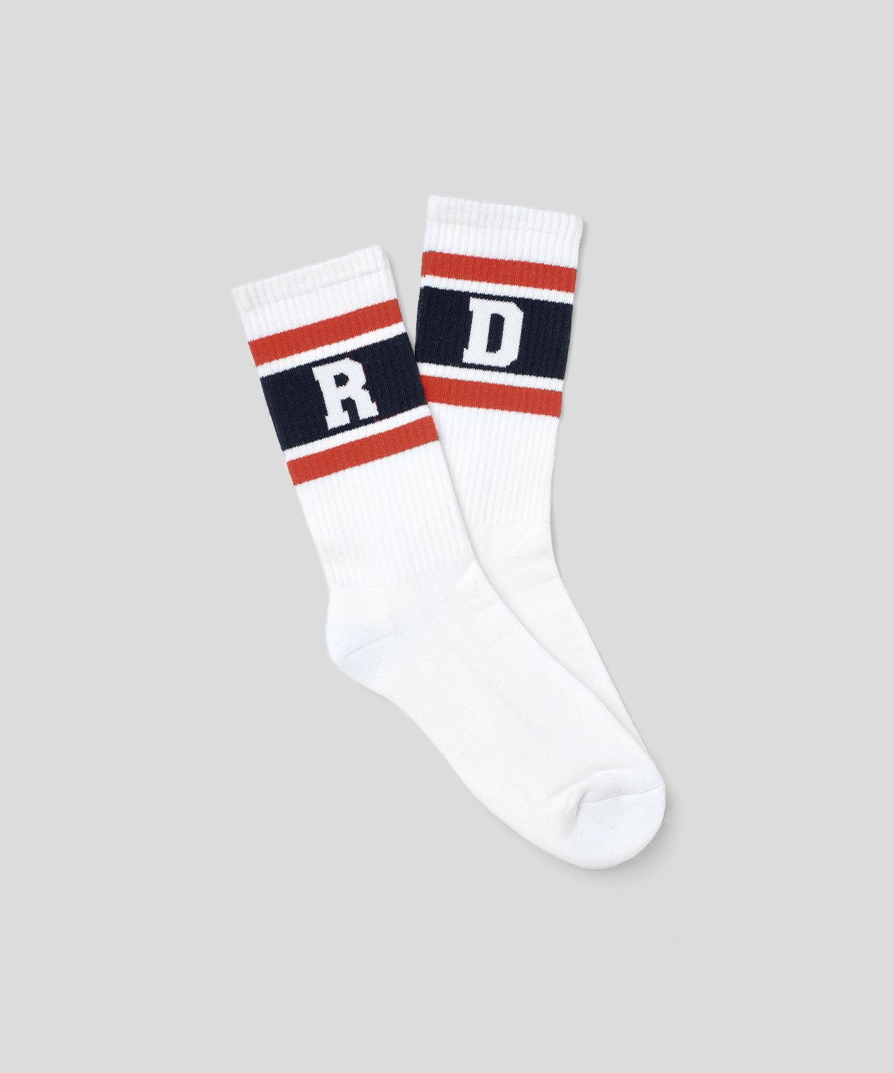 Sport Socks RD Stripes - white/sunset orange