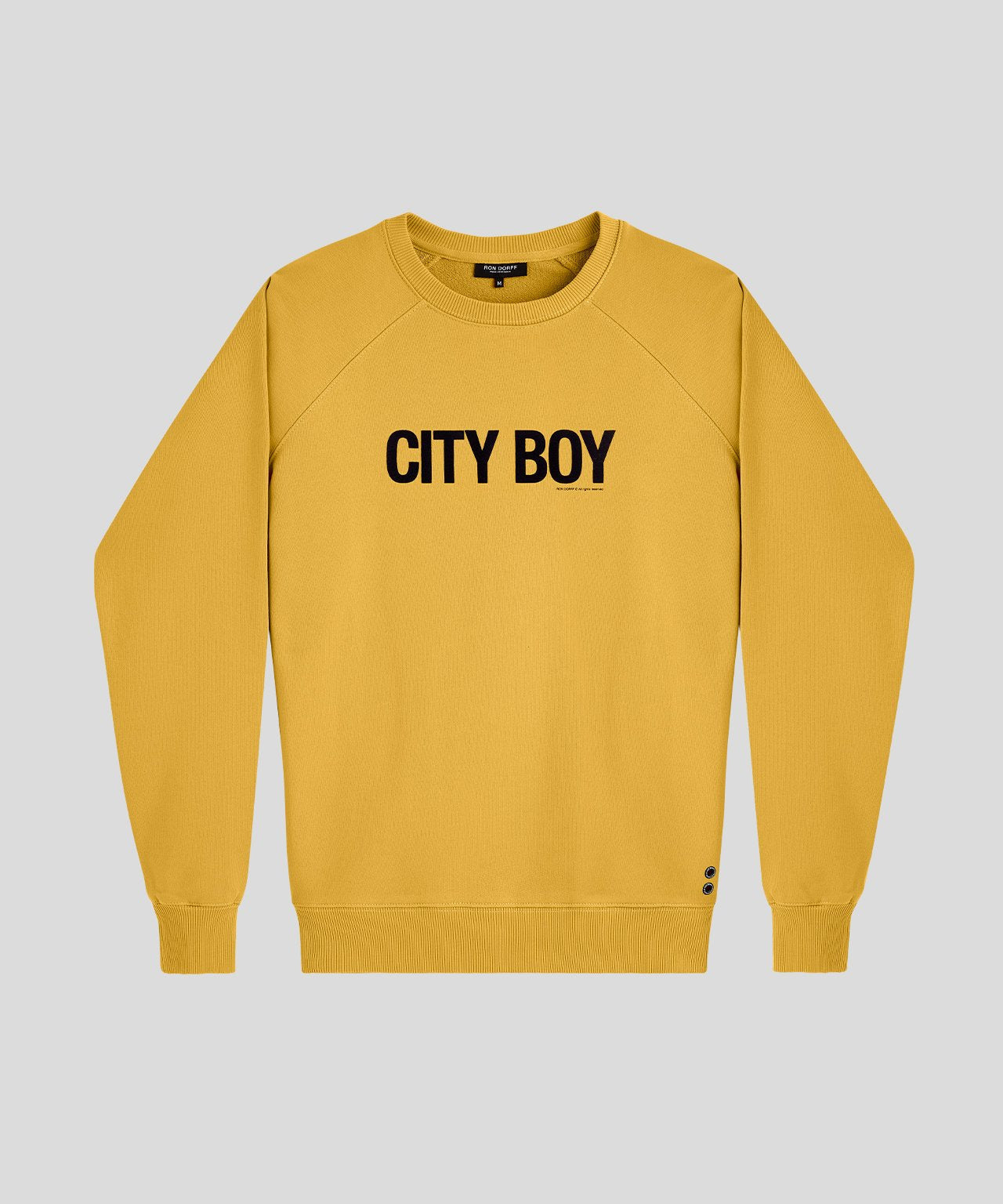 Sweatshirt CITY BOY - urban yellow