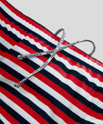 Swim Briefs Horizontal Thin Stripes - navy/red