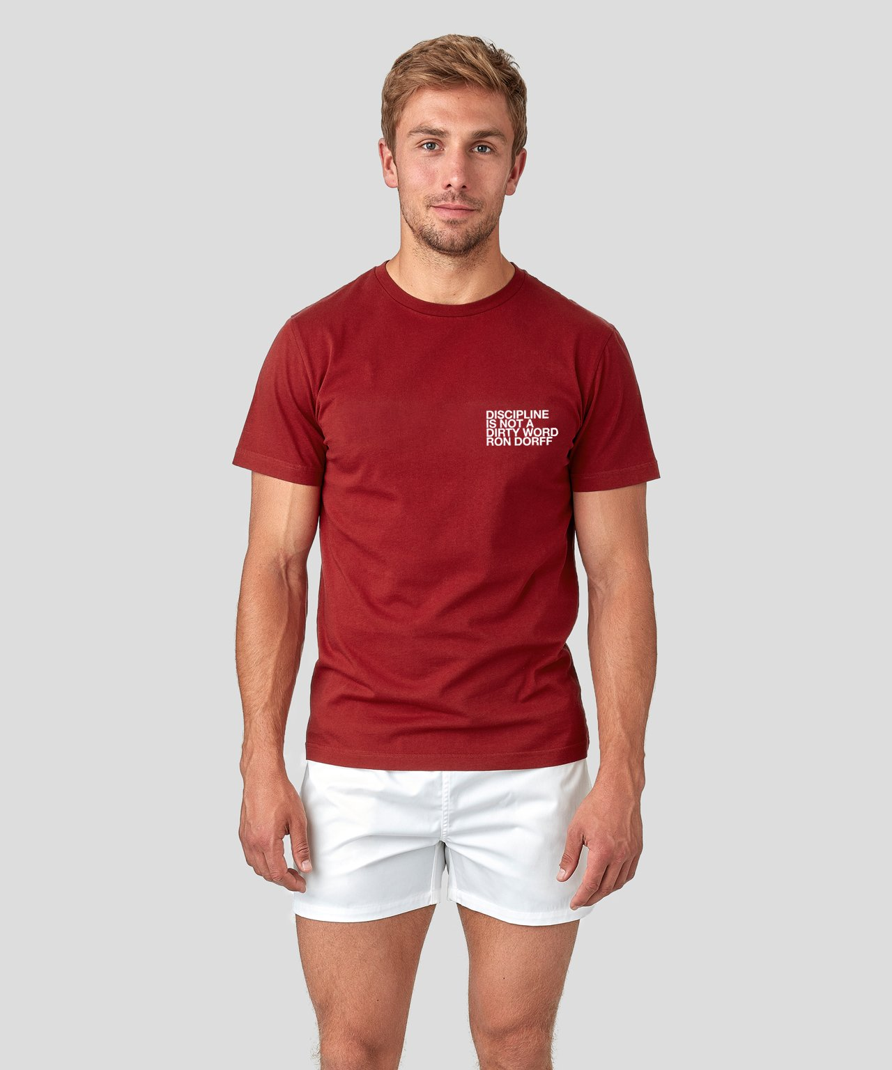 T-Shirt DISCIPLINE - falun red