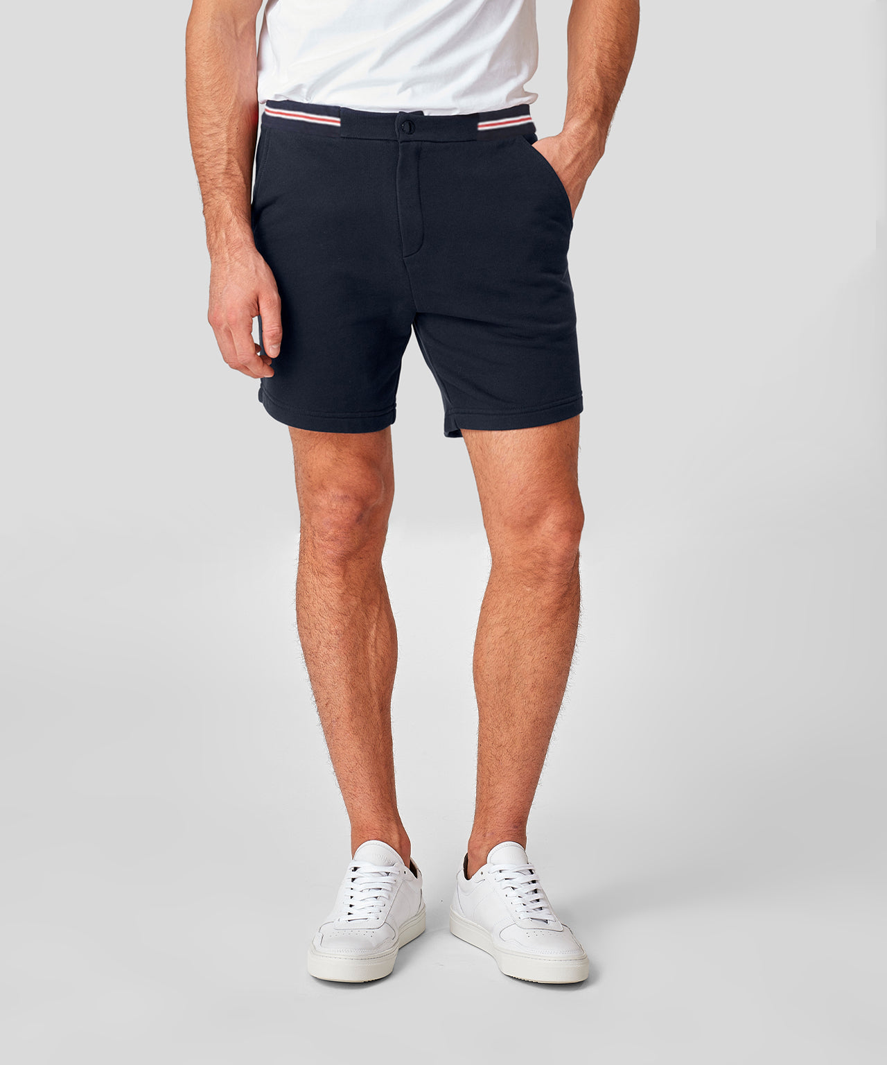 Urban Shorts Waist Stripes - navy