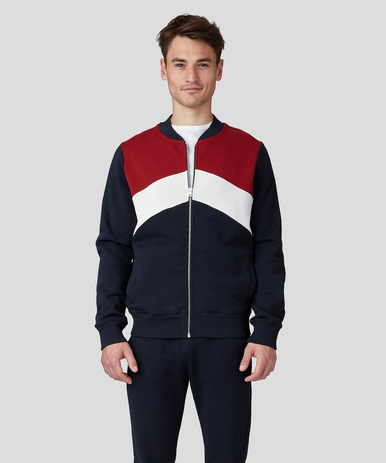 Chevron Tennis Jacket - falun red