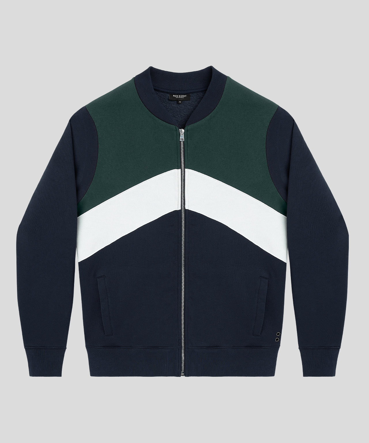 Chevron Tennis Jacket - tyrol green