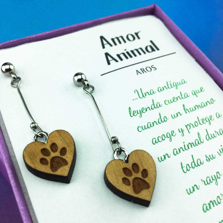 Aros Amor Animal Largos - Aros - Altorrelieve Diseño Chile