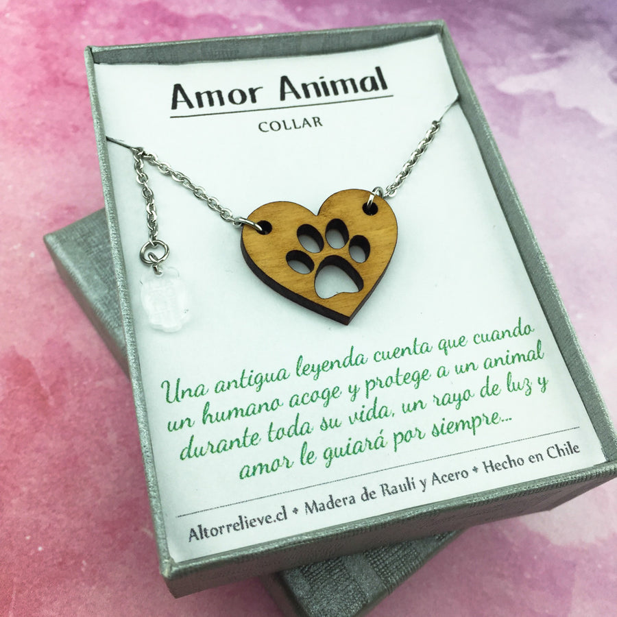 Collar Amor Animal - Collar - Altorrelieve Diseño Chile