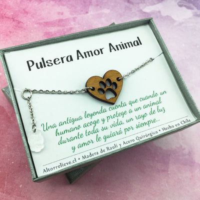 Pulsera Amor Animal - Pulsera - Altorrelieve Diseño Chile